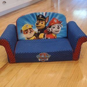 Paw Patrol 2 n 1 flip open foam sofa